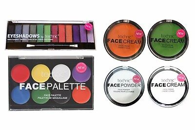 Bodypaint Halloween (Technic Face Body Paint Cream Powder Eye Shadow Palette Set Kit Halloween Makeup)