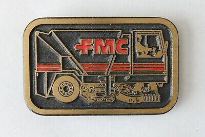 Belt Buckle Men Brass Metal FMC Street Sweeper Truck