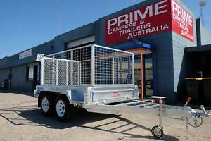 Tandem Galvanised 8x5ft Trailer with 900mm Cage Override Brakes Wingfield Port Adelaide Area Preview