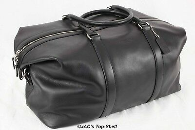 New Coach Voyager 52 Sport Bag in Calf Leather Black F54802 Retails: $795.