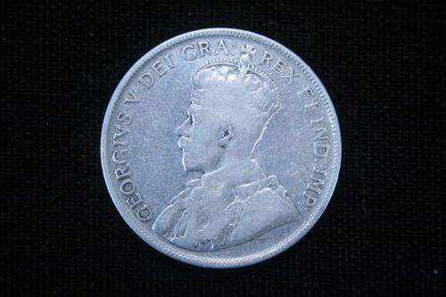 1931 CANADA  50 CENTS HALF DOLLAR KING GEORGE V .800 SILVER COIN