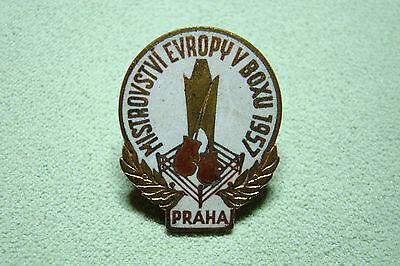 CSSR Abzeichen - Tschechoslowakei - Prag - Sportabzeichen - Boxen - 1957