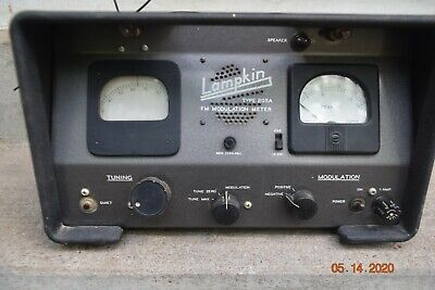 Vintage Used Lampkin Fm Modulation Meter Type 205a