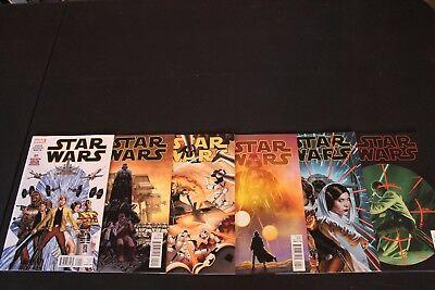 Star Wars 1 2 3 4 5 6 Complete Comic Lot Run Set Marvel Jason Aaron Collection