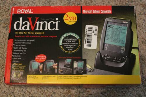 BN! Vintage Royal DaVinci Palm-Size PDA 2MB daVinci-2 NIB!