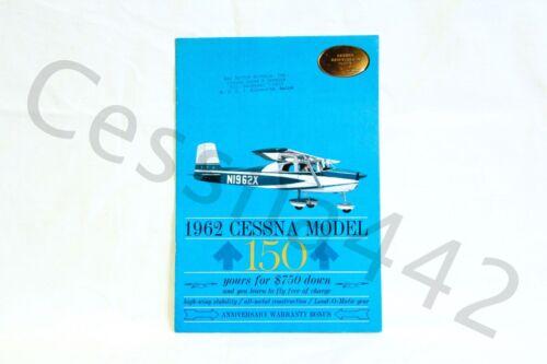 CESSNA Factory OEM - 1962 150 Color Brochure Gloss Vintage Rare Print USA Gift