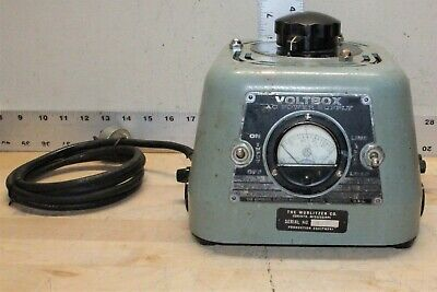 Superior Electric Type Uc1m Voltbox Adjustable Ac Power Supply Tested Working