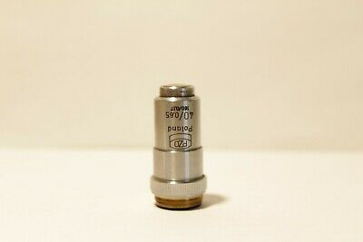 Pzo Microscope Objective 40 0.65 1600.17 Oil Immersion Mikroskop Rms