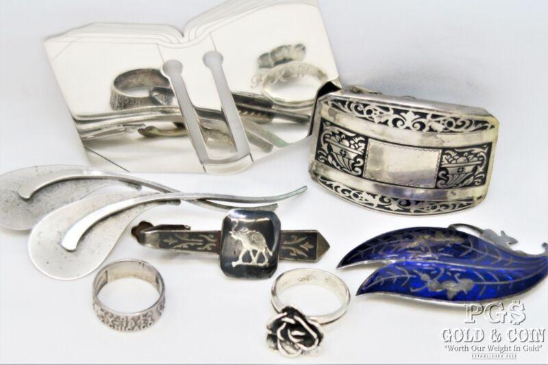 Vtg Asst Sterling Silver Tiffany & Co Beau 1892 Gorham Enamel Siam 67 gr 20511