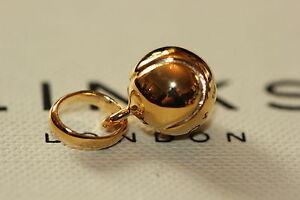 Genuine Links of London Solid Silver Gold Vermeil Wimbledon Tennis Ball Charm