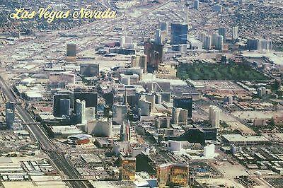 Aerial View of Las Vegas Nevada, Hotel Casinos on Strip, LV Boulevard - Postcard