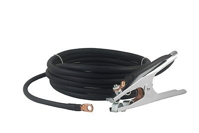 200 Amp Ground Clamp Welding Lead Terminal Lug Connector 2 Awg Cable 25 Feet.