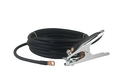 200 Amp Ground Clamp Welding Lead Terminal Lug Connector 2 Awg Cable 15 Feet.