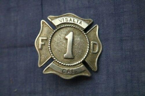 Vintage Visalia CA Fire Department Hat Badge - 40