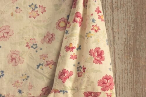 Chair Slipcover Vintage French Fabric wingback / slipper cover w/ pink flowers