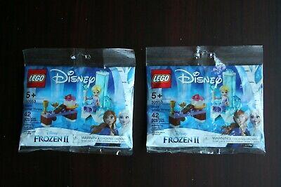 Lot of 2 LEGO Disney Frozen II Elsa's Winter Throne 30553 NEW & SEALED Polybays
