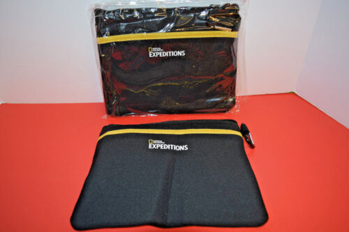 Two  National Geographic Expedition Travel Wallets, Passport Clutch w/Clip