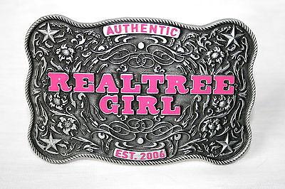 REALTREE GIRL PINK LADIES METAL BELT BUCKLE