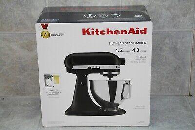 KitchenAid 4.5 Tilt Head Stand Mixer Ultra Power Plus KSM96BM Black Matte