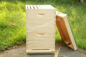 16 frame New Zealand pine bee hive double beehive box flat pack Meadow Heights Hume Area Preview