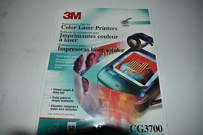 ^^ 3M Film de Transparencia Para Color Impresoras Láser CG3700 - Nuevo...