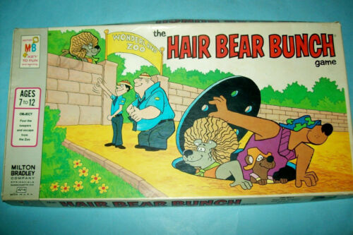 1971 The Hair Bear Bunch Board Game   Complete   Hanna-Barbera