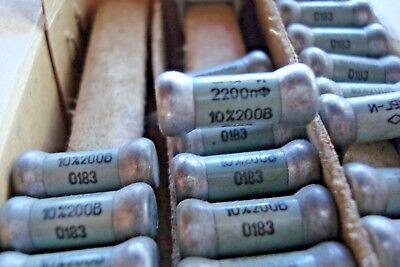 0.01uF 5/% 600V  OKBG-I  KBG-I PIO Capacitors  NOS in BOX  Lot of  10pcs