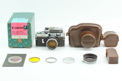 Rare! [ MINT ] Canon P Rangefinder Film Camera 50mm f/1.4 Lens From Japan #105