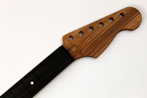 Ebony on Zebrawood S-Style Custom Guitar Neck - USA Made