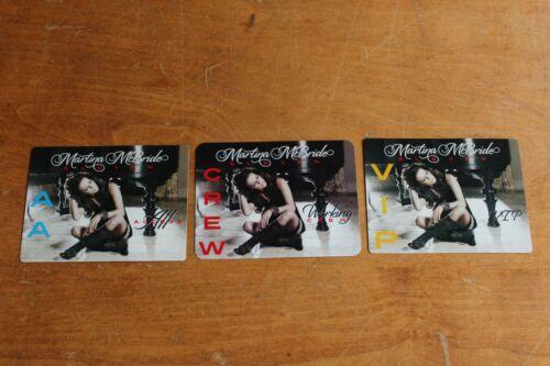 Martina McBride  - 3 x Backstage Pass unused - Lot #  2 - FREE POSTAGE