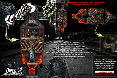 LOSI LST 3XL-E 'HELL RIDE' CHASSIS WRAP DECAL KIT HOP UP SKID PLATE PROTECTION (Lst Chassis)