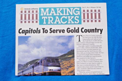 Amtrak California Newsletter: MAKING TRACKS - Winter 97-98