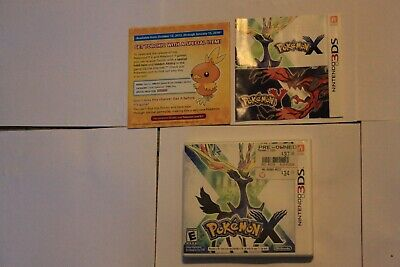 Pokemon X (3DS, 2013) Manual, case and game included