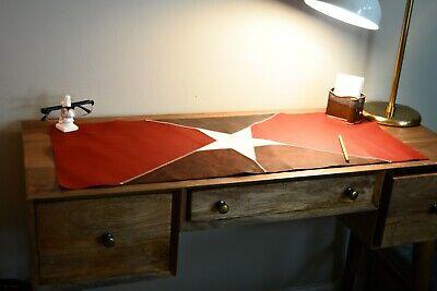 Leather Desk Pad - Unique Lone Star Large Deskpad - Mouse Pad