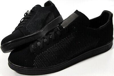 ADIDAS ORIGINALS Stan Smith Primeknit BLACK shoes-NEW-PK classic tennis (Adidas Originals Shoes Mens Stan Smith Classic Sneakers)