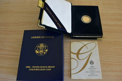 2004-W  American Eagle 1/10oz Proof Coin in Mint Box with COA(see note)