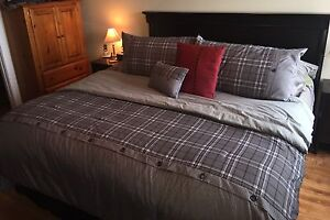 One Year Old King Sized Bed & Bedding
