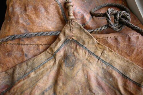 antique primitive navajo leather bag nomad indian