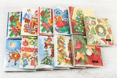 20pcs 3-ply Disposable Paper Lunch Christmas New Year Napkins 3 Ply Paper Napkin