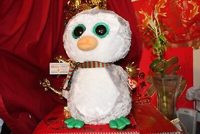 "TY BEANIE BOOS CHILLY PENGUIN.JUMBO.16"".CLAIRE'S EXCLUSIVE.2017.MWNMT.NICE GIFT"