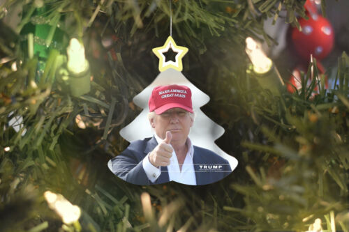Donald Trump MAGA Christmas Tree Ornament + FREE Decal