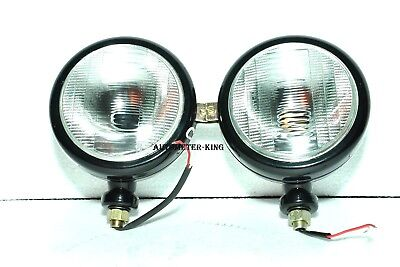 New 2000 2600 3000 3600 3610 4000 5000 7000 Ford Tractor 12v Black Headlights