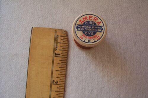 1  Vtg Antique Wooden Spool Sewing Silk thread  Amera, The National Silk Co