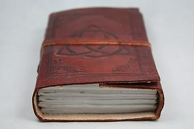 Antique Leather Journals - Handmade Leather Book of Shadows Blank Journal, Diary Antique Style Wicca 5x3.5