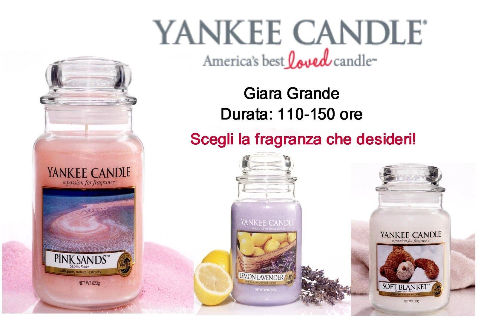 YANKEE CANDLE Candele profumate GIARA GRANDE  Spedizione GRATUITA