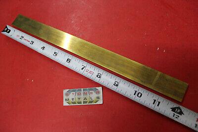 18 X 1 C360 Brass Flat Bar 12 Long Solid Plate Mill Stock H02 Half Hard .125