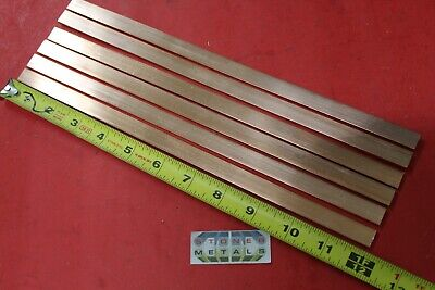 6 Pieces 18 X 12 C110 Copper Bar 12 Long Solid Flat Mill Bus Bar Stock H02