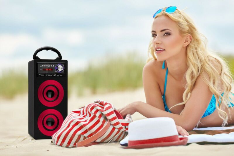 BEATFOXX BS-20BTR BEACHSIDE PORTABLE SPEAKER WERKSTATT BOX BAUSTELLEN RADIO USB