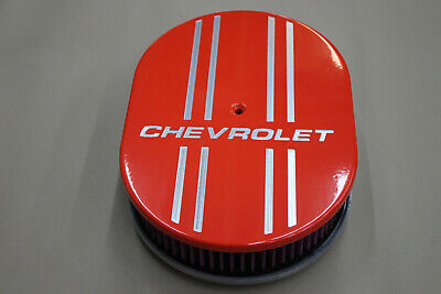 Chevrolet Powder Coated Hugger Orange with 4 line Air Cleaner K&N finned design -