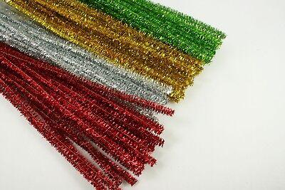 CHRISTMAS Set of 300 Metallic Tinsel Pipe Cleaners for Kids Crafts BULK BUY !!!](Bulk Tinsel)